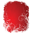 winter grunge border vector image vector image