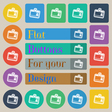 Id card icon sign Set of twenty colored flat round vector image