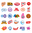 big set of logos free vector image