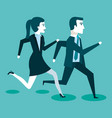 corporate active competition business people on vector image
