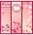 cherry blossom banners vector image