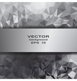 Silver crystal abstract pattern Business Design vector image