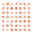 49 earth icons vector image vector image