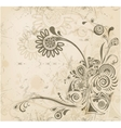 Abstract vintage flower background vector image vector image