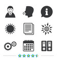 accounting workflow icons human documents vector image