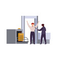 airport security check tiling out baggage and vector image