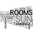 are sun rooms safe text word cloud concept vector image vector image