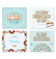 baby shower cards set for boys sweet templates vector image vector image