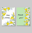 beautiful spring card with narcissus vector image vector image