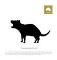 black silhouette of tasmanian devil vector image vector image