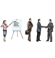 Business people sketch colored vector image vector image