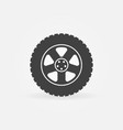 car wheel tire icon vector image vector image