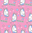 Cartoon seamless pattern with cute bull terrier vector image vector image