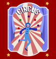 circus flat colorful poster vector image vector image