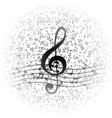classical musical notes with treble clef vector image vector image