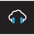 cloud music concept icon vector image vector image