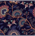 colorful wallpaper with paisley and decorative vector image