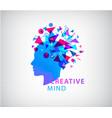 creative mind human head logo concept vector image