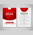 Design flyers and brochures polygonal vector image