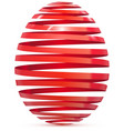 easter egg ribbon isolated on white vector image