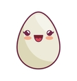 egg kawaii style icon vector image