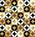 Gold mosaic tile seamless pattern in vintage style vector image vector image
