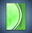 Green eco swoosh line futuristic brochure vector image