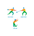 Hammer Throw Discus Throw Long Jump Icon vector image vector image