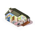 infographic house room isometric vector image