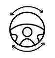 Line steering wheel futuristic car innovation