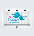 love festive billboard template vector image vector image