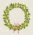 Mistletoe wreath vector image vector image