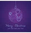 ornate christmas balls made hearts romantic vector image vector image