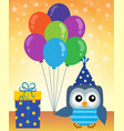 party owl topic image 2 vector image
