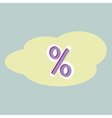 percent sign icon vector image
