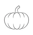 pumpkin outline design isolated on white vector image