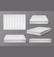 realistic mattress transparent collection vector image vector image