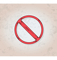 red crossed circle danger sign vector image vector image
