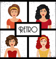 Retro Woman design vector image vector image