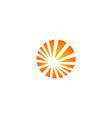 round shine technology logo vector image vector image