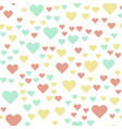 seamless background with pastel color retro heart vector image vector image