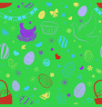 seamless pattern easter symbols vector image vector image