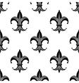 Seamless stylized fleur de lys pattern vector image vector image