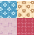 set - color geometric patterns seamless vector image vector image