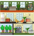 set of university interior posters banners vector image vector image