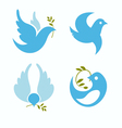 set symbols dove peace vector image