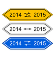 Signpost 2015 vector image vector image