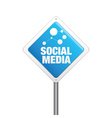 Social Media Sign vector image vector image