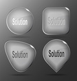 Solution Glass buttons vector image vector image