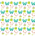 Spring forest butterfly and grass sheaf pattern vector image vector image